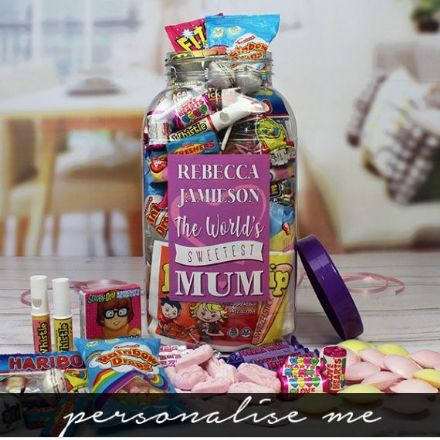 Mum's Personalised Sweet Jar - Large